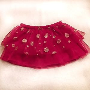 🔥3/$10🔥Like-new red and gold winter tutu
